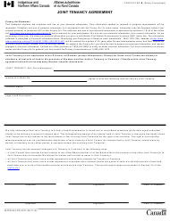 """Form INTER83-157E """"Joint Tenancy Agreement"""" - Canada"""