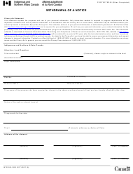"""Form INTER83-162E """"Withdrawal of a Notice"""" - Canada"""