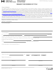 """Form INTER83-165E """"Request for Evidence of Title"""" - Canada"""