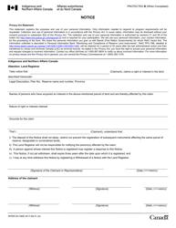 """Form INTER83-160E """"Notice"""" - Canada"""
