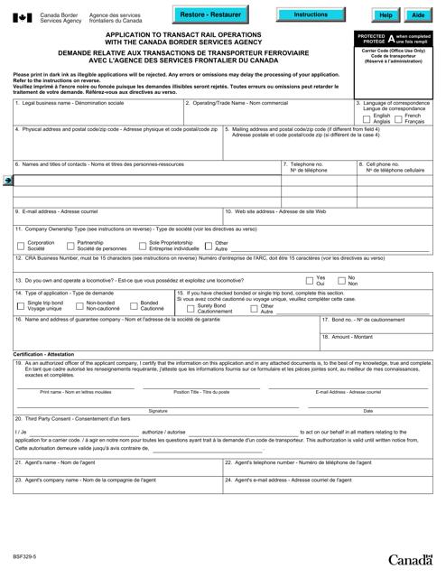 Form BSF329-5 Printable Pdf