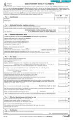"Form T82 ""Saskatchewan Royalty Tax Rebate"" - Saskatchewan, Canada"