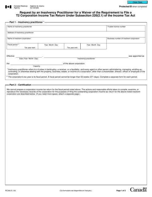 Form RC342 Printable Pdf