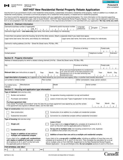 Form GST524 Printable Pdf