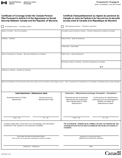 Form CPT68 Printable Pdf