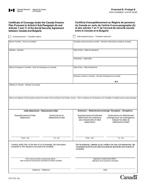 Form CPT170  Fillable Pdf