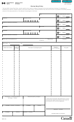 "Form B60 ""Excise Duty Entry"" - Canada"