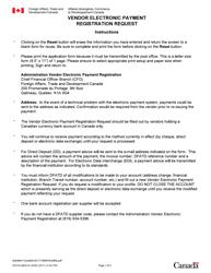"Form DFATD-MAECD2658 E ""Vendor Electronic Payment Registration Request"" - Canada"