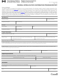 "Form DCI41772 ""Federal Interlocutor Contribution Program Report"" - Canada, 2020"