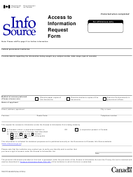 """Form TBC/CTC350-0057 """"Access to Information Request Form"""" - Canada"""