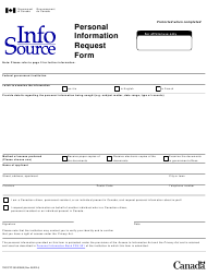 """Form TBC/CTC350-0058 """"Personal Information Request Form"""" - Canada"""