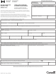 """Form TBC/CTC350-11 """"Record Correction Request Form"""" - Canada (English/French)"""