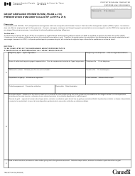 """Form TBS/SCT340-56 """"Group Grievance Presentation (Pslra S. 215)"""" - Canada (English/French)"""