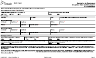 "Form 016-0288E ""Application for Employment - Construction"" - Ontario, Canada"