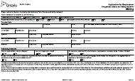 "Form 016-0289E ""Application for Employment - Mining"" - Ontario, Canada"
