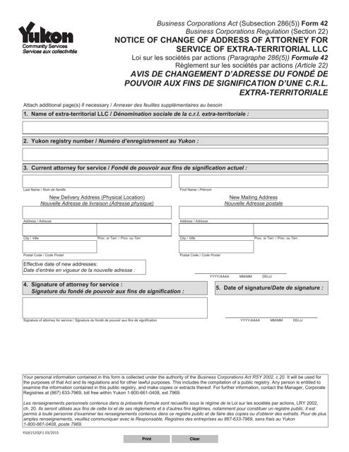 Form 42 (YG6152) Printable Pdf