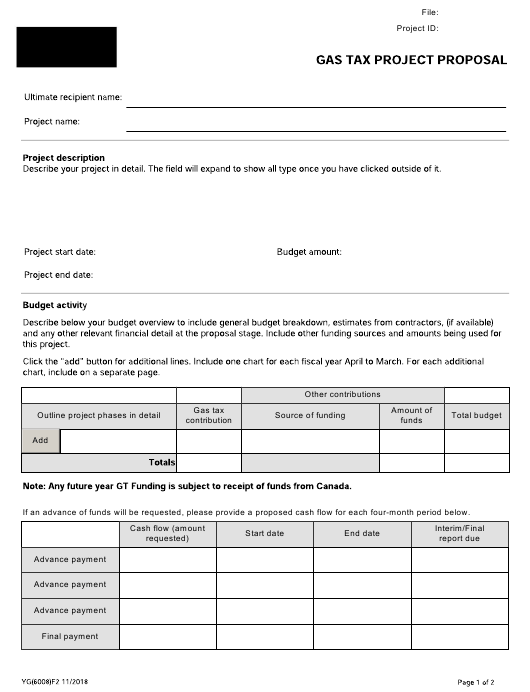 Form YG6008 Printable Pdf