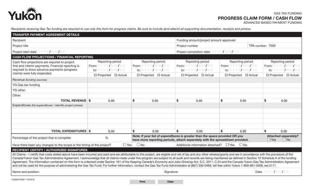 Form YG6601 Printable Pdf