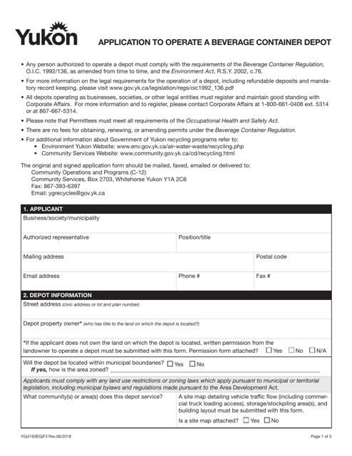 Form YG4163 Printable Pdf