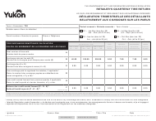 "Form YG5151 ""Retailer's Quarterly Tire Return"" - Yukon, Canada (English/French)"