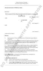 """Yukon Nominee Program Tri-Partite Agreement (Tpa)"" - Yukon, Canada"