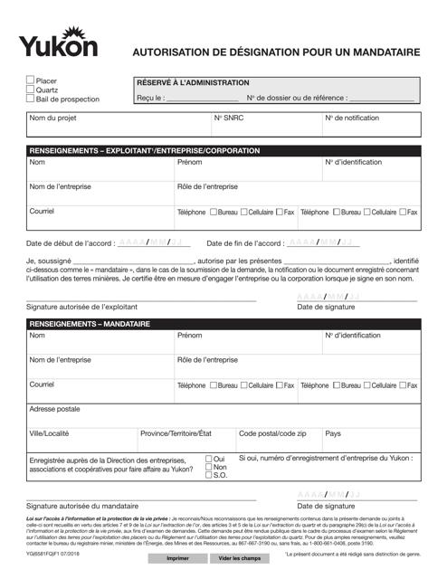Form YG6581  Fillable Pdf