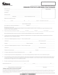 "Forme 2 (YG5047) ""Demande Pour Un Claim Minier Fractionnaire"" - Yukon, Canada (French)"