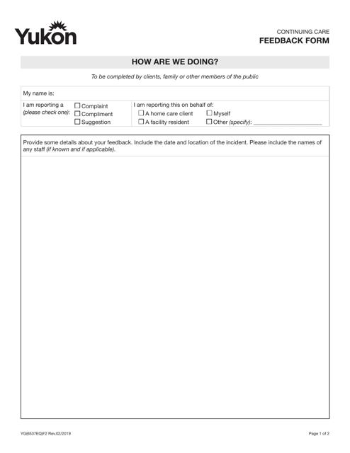 Form YG6537 Printable Pdf