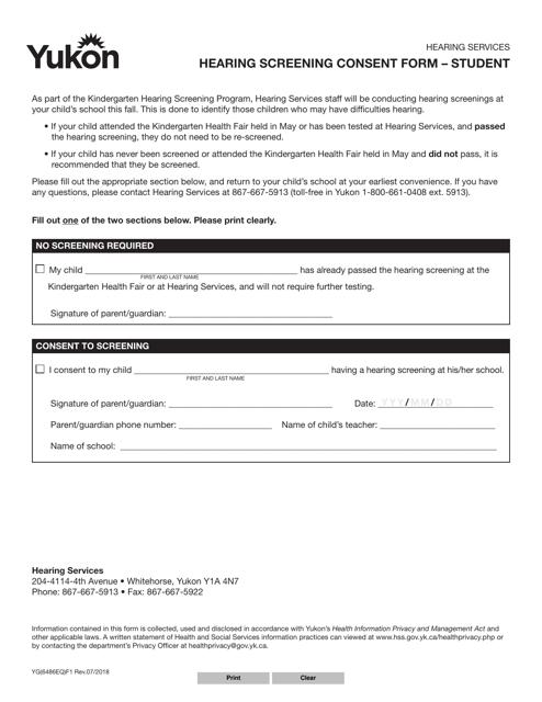 form yg6486 download fillable pdf or fill online hearing. Black Bedroom Furniture Sets. Home Design Ideas