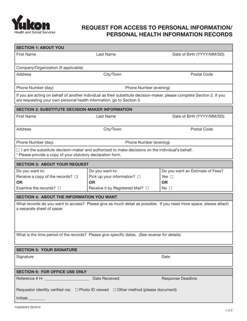 Form YG6364 Printable Pdf