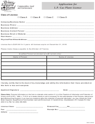 """Application for L.p. Gas Plant Licence"" - Prince Edward Island, Canada"