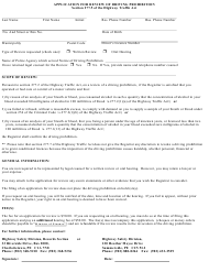 """Application for Review of Driving Prohibition"" - Prince Edward Island, Canada"