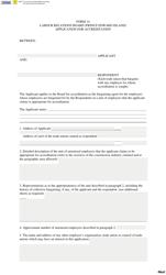 "Form 14 ""Application for Accreditation"" - Prince Edward Island, Canada"
