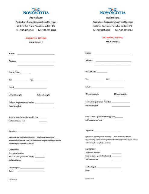Form LSAD101F7.4 Printable Pdf