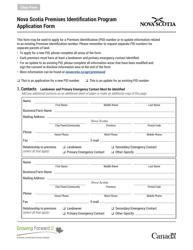 """""""Nova Scotia Premises Identification Program Application Form"""" - Nova Scotia, Canada"""