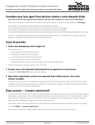 "Forme ESIA-BRO02 ""Request an Appeal of an Esia Decision"" - Nova Scotia, Canada (French)"