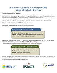 """New Brunswick Insulin Pump Program (Ipp) Approval Authorization Form"" - New Brunswick, Canada"