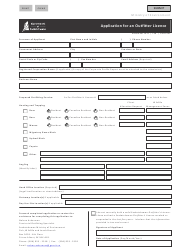 """Form CSB11001 """"Application for an Outfitter Licence"""" - Saskatchewan, Canada"""