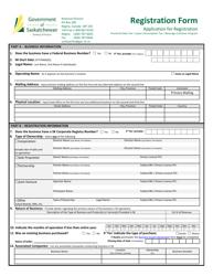 """Application for Vendor's Licence/Consumer Registration"" - Saskatchewan, Canada"