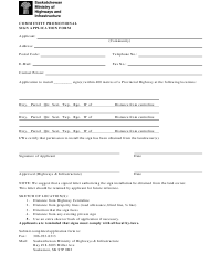 """Community Promotional Sign Application Form"" - Saskatchewan, Canada"