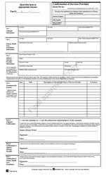 "Form NS-2A ""Confirmation of Services Provided"" - Nova Scotia, Canada"