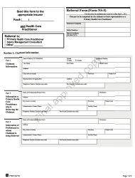"Form NS-5 ""Referral Form"" - Nova Scotia, Canada"