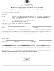 """""""Application for Inspection of Waste Water Treatment Plants (Drawing Review, New Construction, Additions to Existing or Replacement)"""" - Nova Scotia, Canada"""