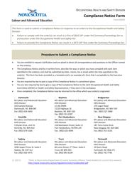 "Form 401 ""Compliance Notice Form"" - Nova Scotia, Canada"