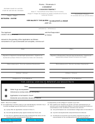 "Form 3 ""Consent"" - Ontario, Canada (English/French)"