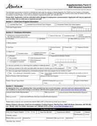 "Form CDEV3922 Supplement C ""Staff Attraction Incentive"" - Alberta, Canada"