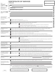 "SCR Form 4 (SCL004F) ""Certificate of Service"" - British Columbia, Canada"