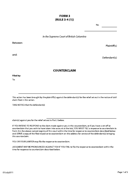 Form 3 Printable Pdf