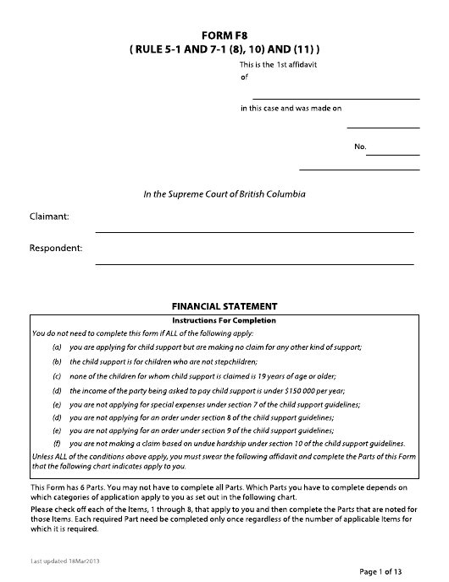 Form F8 Printable Pdf