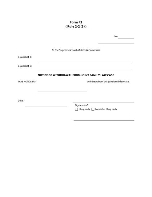 Form F2 Printable Pdf